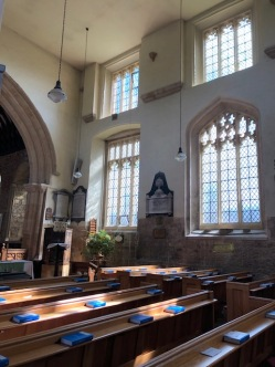 The interior of St. Peter and Paul church in Blockley