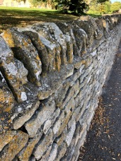 A beautiful, old stone Cotswold dry wall