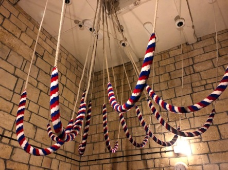 Bell ropes in repose at Blockley Church
