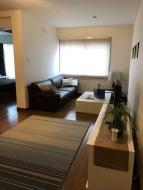 Living room with a big, comfy sofa