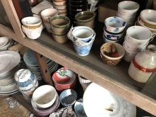 Odds and ends of teacups and bowls