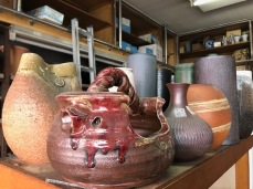 A nice selection of several big ikebana vases