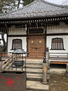 The smaller temple holds the Special Attack Kannon statues.