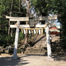 A second torii with a large shimenawa