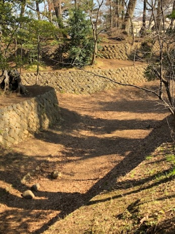 The Setagaya Castle's foundation stones