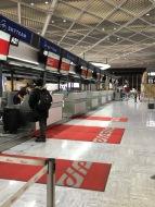 Narita Airport was eerily empty . . .