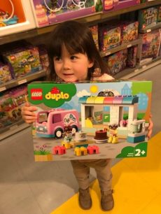 K chose a Duplo bakery for her gift.