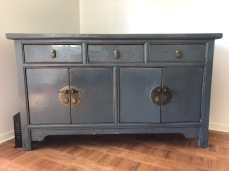 Painted elm storage cabinet and TV stand