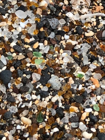 Glass Beach is named for its abundance of sea glass!