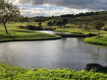 On the Kukui'ula golf course