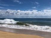 Waves were very big and fierce . . .