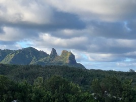 The Anahola mountains from Alan & Cheryl's lanai.