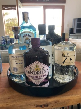 The current Chez Aloha gin collection