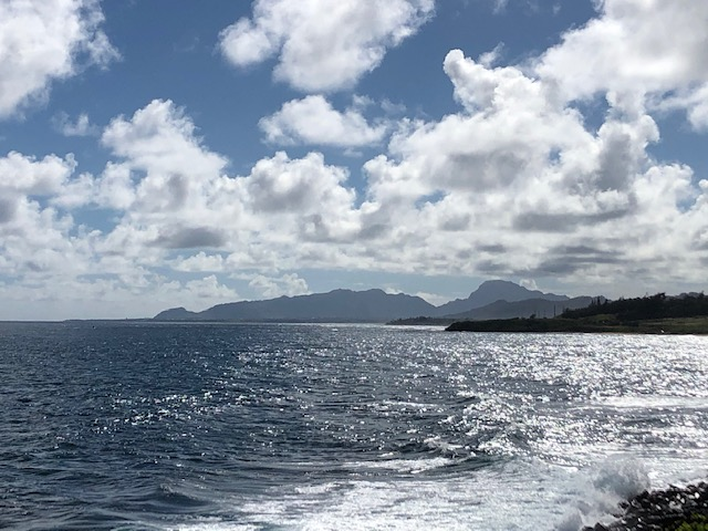The view south to Lihue and Hau'upa