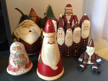 The Santas come from all sorts of places . . .