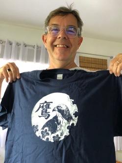 Brett's custom t-shirt, designed and made by WenYu