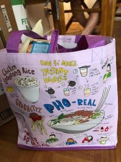 YaYu's big bag of Hawaiian goodies to take back to school