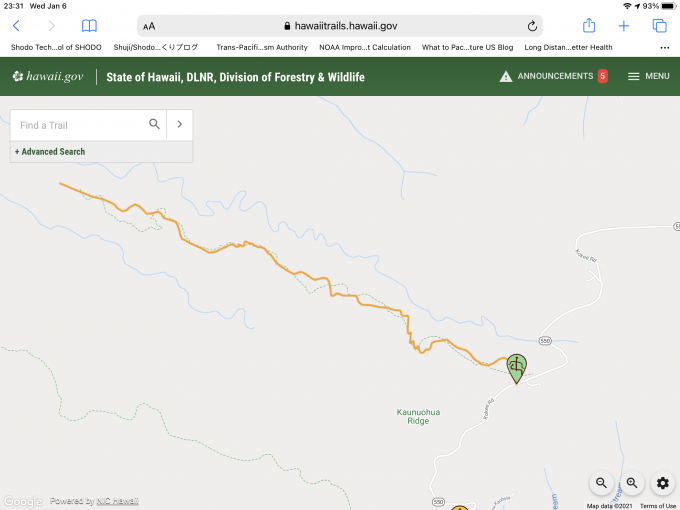 Hawaii Forestry & Wildlife Map