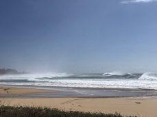 the surf was wild