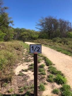 Trail distances are well marked