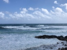 The surf was relentless, and LOUD!