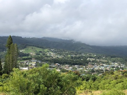 Rain clouds moving in over Kalaheo